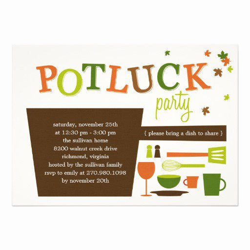 Potluck Invitation Template Free Lovely Thanksgiving Potluck Invitation Rhyme