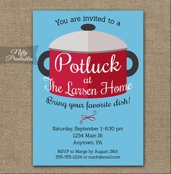 Potluck Invitation Template Free New 10 Potluck Email Invitation Templates Design Templates