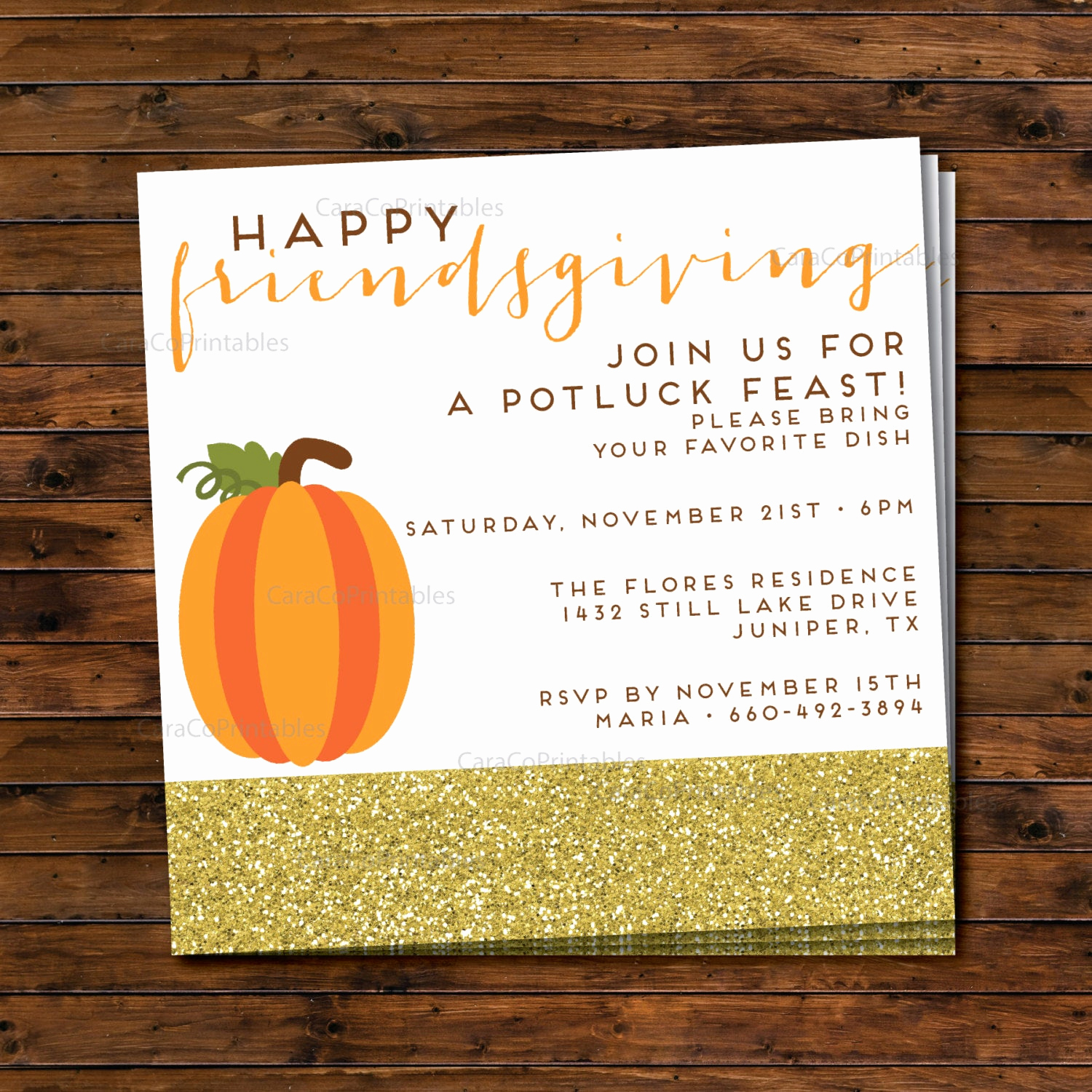 Potluck Invitation Template Free Printable Best Of Friendsgiving Thanksgiving Potluck Dinner Party Invitation