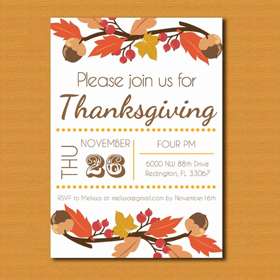 Potluck Invitation Template Free Printable Elegant Thanksgiving Invitation Thanksgiving Invite