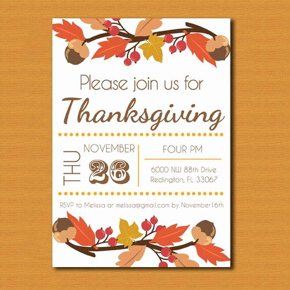 Potluck Invitation Template Free Printable Elegant Thanksgiving Invitation Thanksgiving Invite