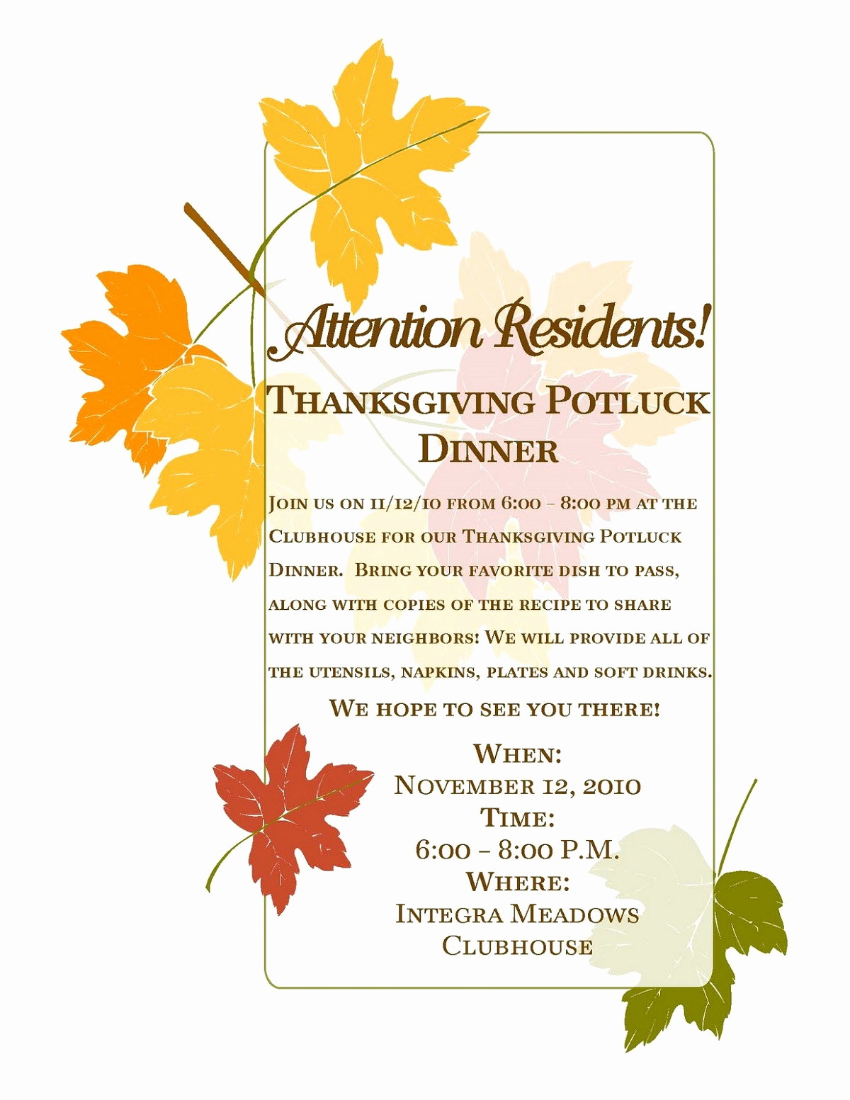 Potluck Invitation Template Free Printable Lovely Potluck Flyer Template Free Printable