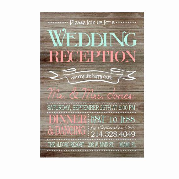 Potluck Wedding Invitation Wording Elegant Best 25 Reception Only Invitations Ideas On Pinterest