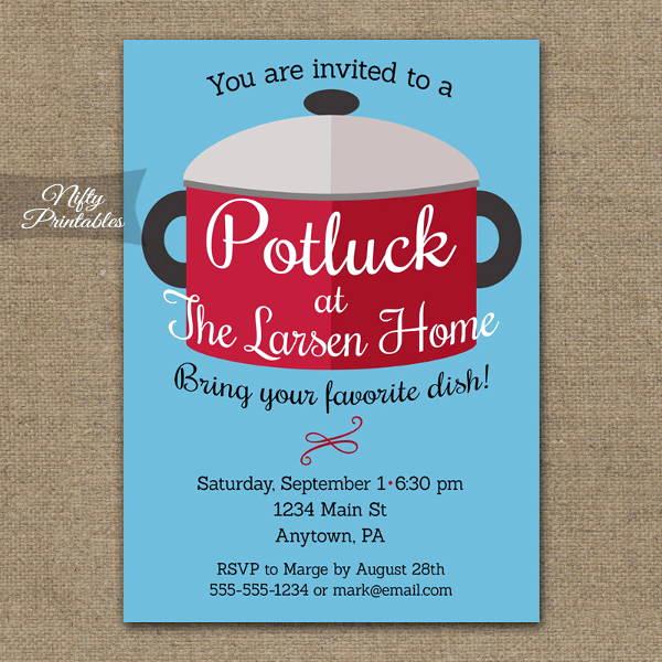 Potluck Wedding Invitation Wording Fresh 56 Dinner Invitation Templates In Psd