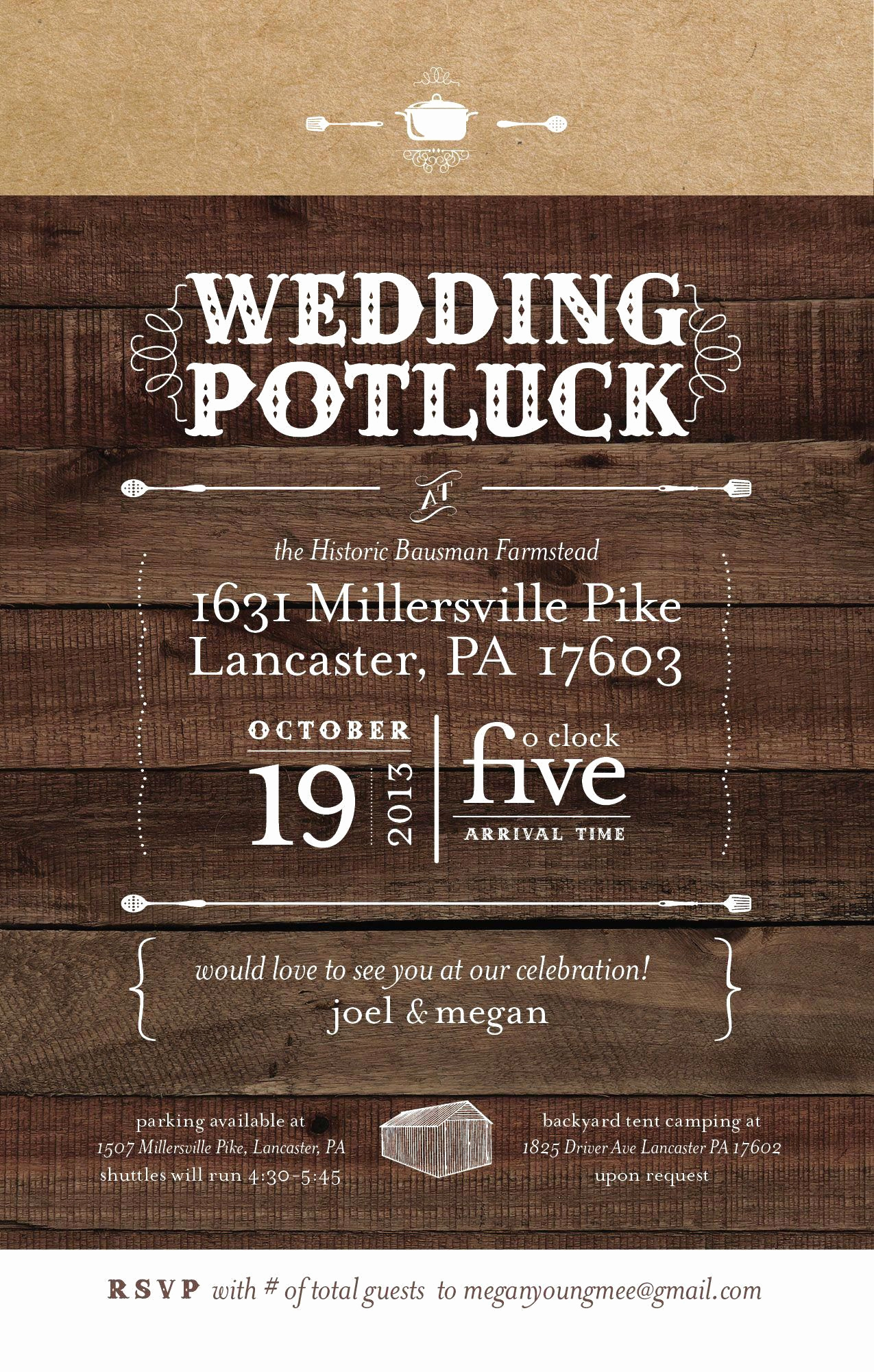 Potluck Wedding Invitation Wording Unique Potluck Wedding Yes Love This Invitation Idea and Style