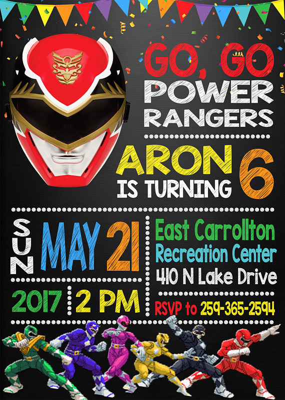 Power Ranger Invitation Templates Beautiful 13 Power Rangers Party Ideas Pretty My Party