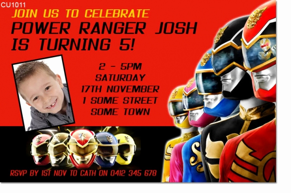 Power Ranger Invitation Templates Beautiful Power Ranger Birthday Party Invitations