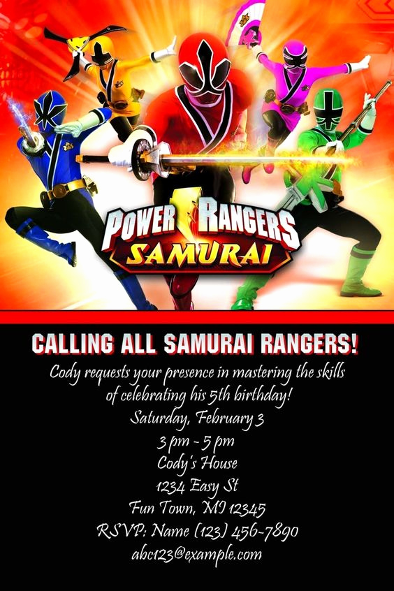 Power Ranger Invitation Templates Best Of Pinterest • the World's Catalog Of Ideas