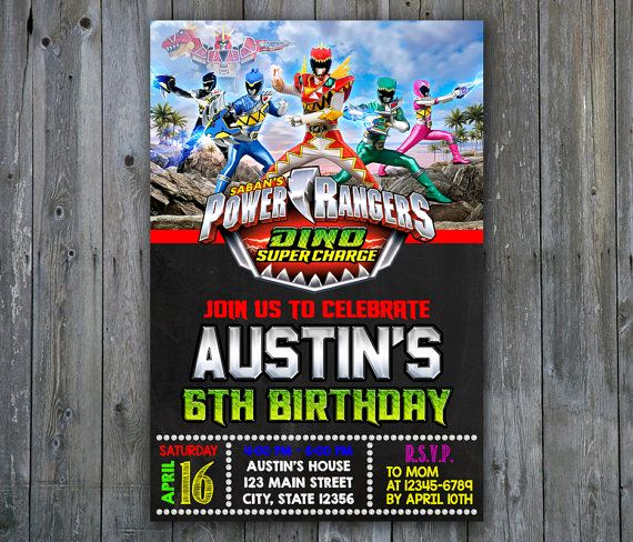 Power Ranger Invitation Templates Elegant 25 Best Ideas About Power Ranger Party On Pinterest