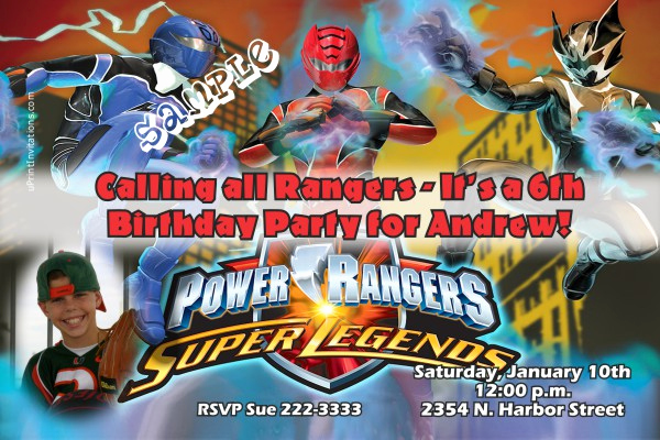 Power Ranger Invitation Templates Elegant Power Rangers Birthday Invitations