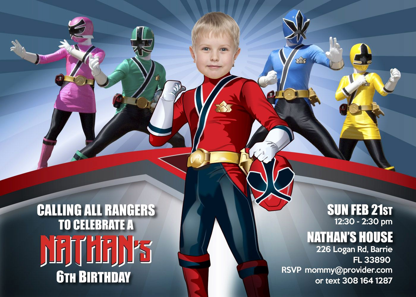 Power Ranger Invitation Templates Fresh Power Ranger Birthday Invitations Power Rang…