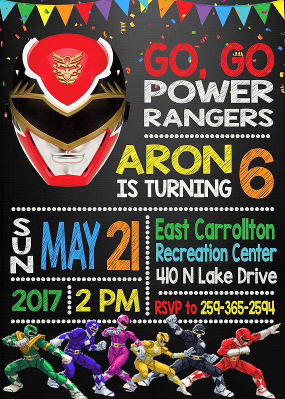Power Ranger Invitation Templates Lovely Power Rangers Invitation Power Rangers Birthday Party