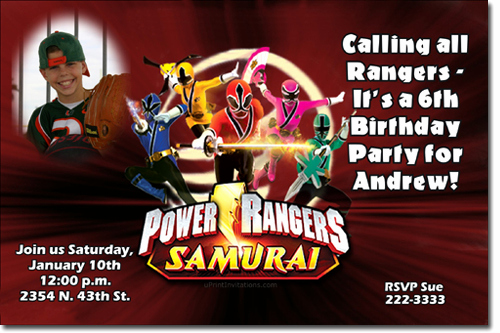 Power Ranger Invitation Templates Luxury Power Rangers Ninja Steel Birthday Invitations Candy