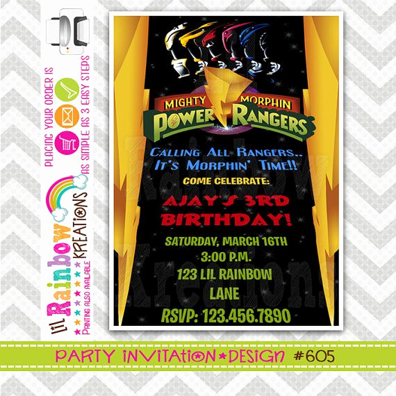 Power Rangers Birthday Invitation Template Beautiful 1000 Images About Power Rangers On Pinterest