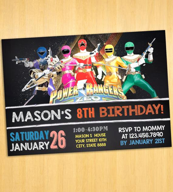 Power Rangers Birthday Invitation Template Elegant Power Rangers Invitation Printable Power by Printablesolution