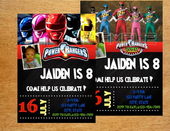 Power Rangers Birthday Invitation Template Elegant Unavailable Listing On Etsy