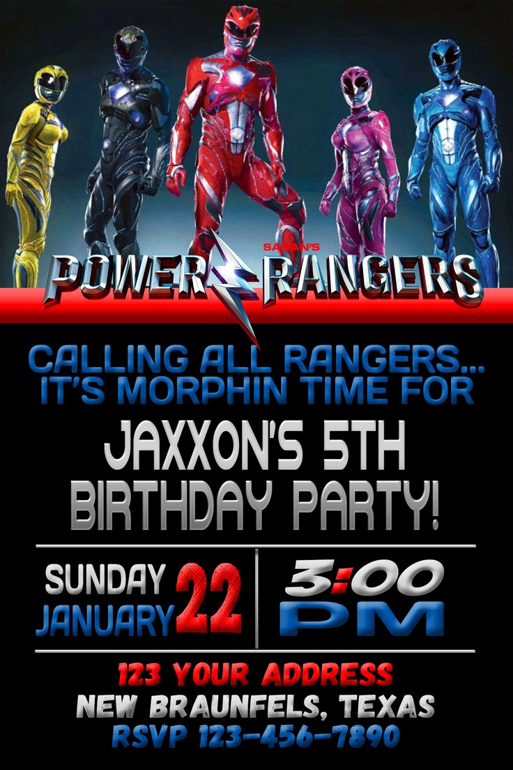 Power Rangers Birthday Invitation Template Fresh Best 25 Power Rangers Mask Ideas On Pinterest