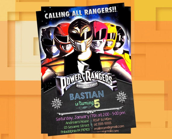 Power Rangers Birthday Invitation Template Fresh Power Ranger Mighty Morphin Invitationpower Ranger Mighty