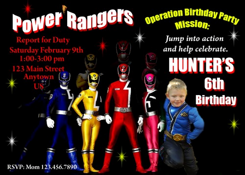 Power Rangers Birthday Invitation Template Fresh Power Rangers Birthday Invitations Ideas – Bagvania Free