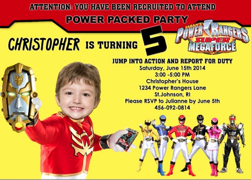 Power Rangers Birthday Invitation Template Lovely First Birthday Party Invitations Boy