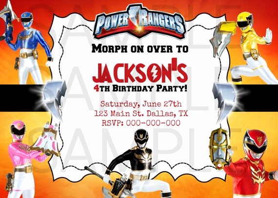 Power Rangers Birthday Invitation Template Luxury 9 Best Mark S Birthday Party Images On Pinterest