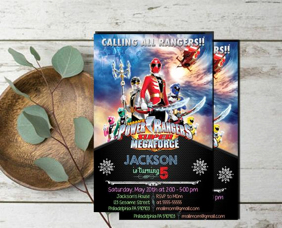 Power Rangers Birthday Invitation Template New Power Rangers Invitationpower Rangers Birthdaypower Rangers