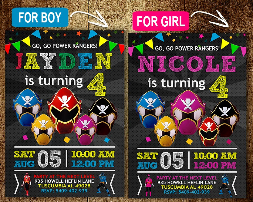 Power Rangers Birthday Invitation Template Unique Power Rangers Birthday Invitation Invitations Power Rangers