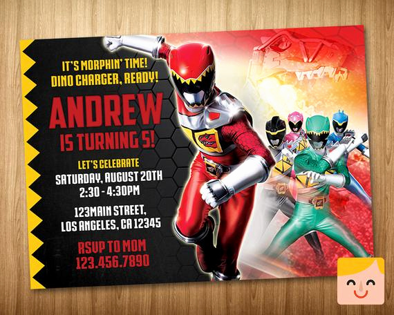 Power Rangers Birthday Invitation Template Unique Power Rangers Invitation Power Rangers Birthday by
