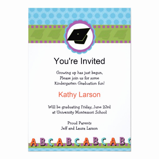 Pre School Graduation Invitation Elegant Kindergarten Graduation Invitation