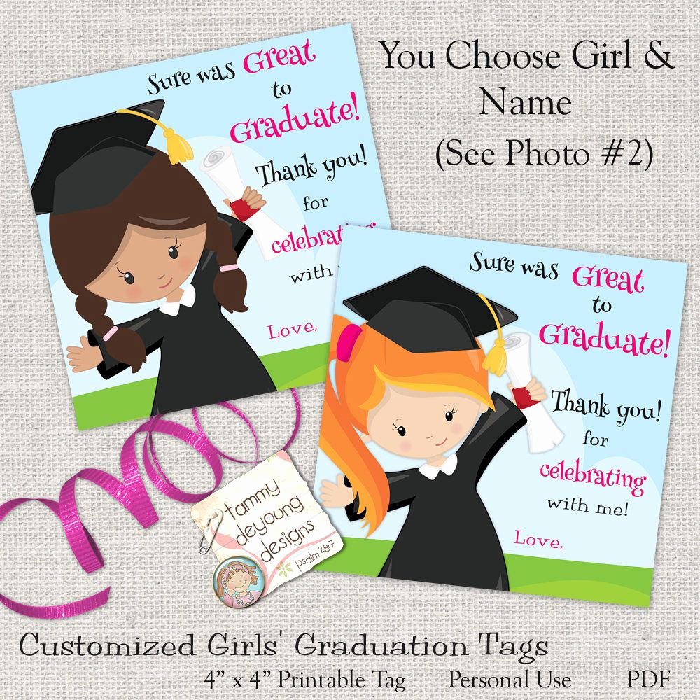 Pre School Graduation Invitation Inspirational Girls Graduation Tags Kids Graduation Sticker Digital