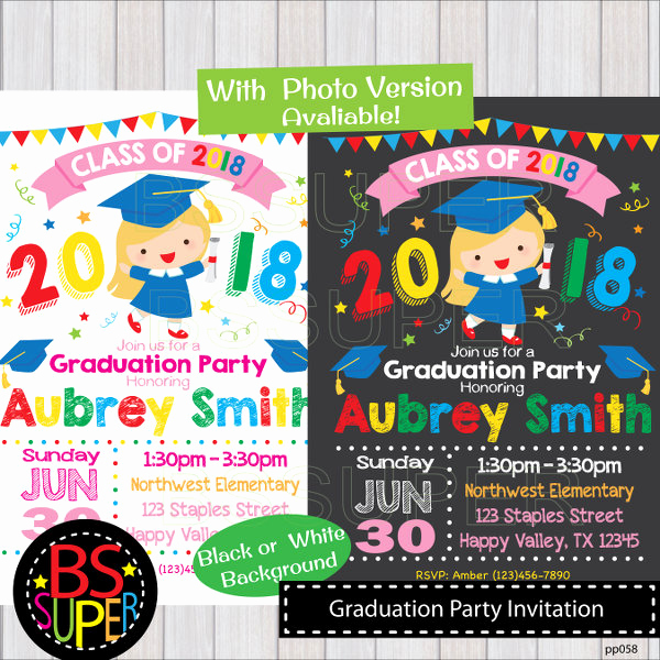 Pre School Graduation Invitation Inspirational Graduation Party Invitation Kindergarten Graduation Invite