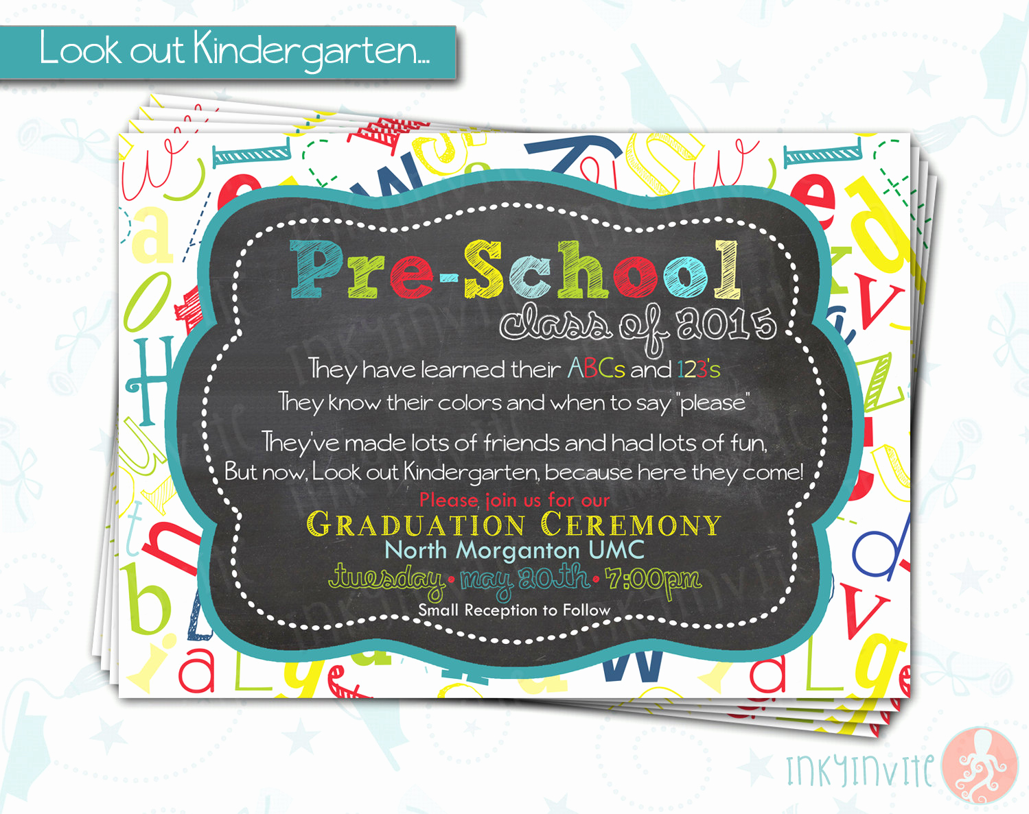 Pre School Graduation Invitation Inspirational Pre School Graduation Invitation Pre K Class Graduation