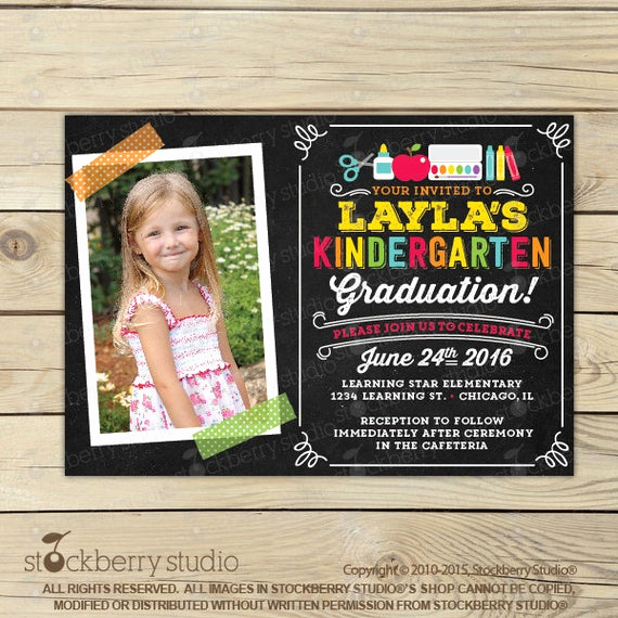 Pre School Graduation Invitation Lovely Kindergarten Graduation Invitation Preschool Graduation