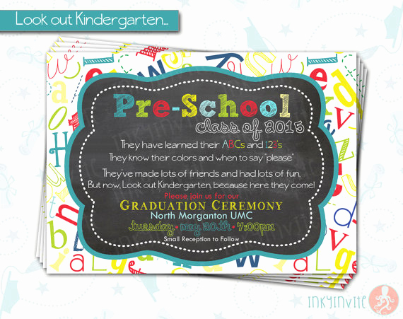 Pre School Graduation Invitation Lovely Pre School Graduation Invitation Pre K Class Graduation