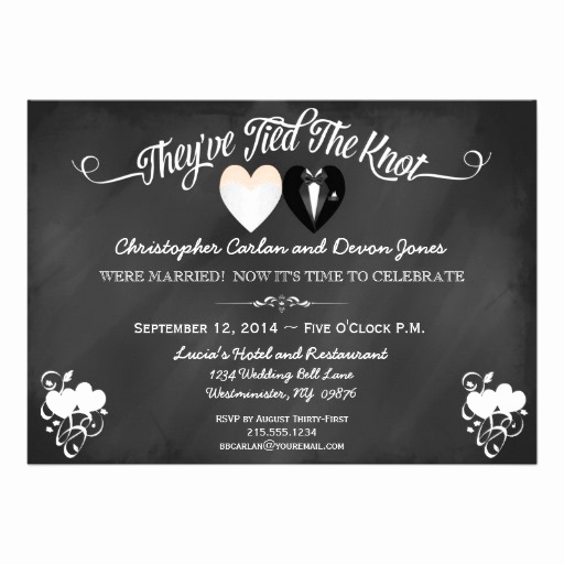 "Pre Wedding Party Invitation Wording Beautiful Post Wedding Trendy Chalkboard Invitation 5"" X 7"