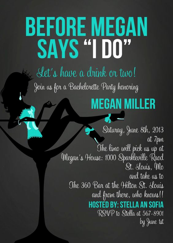 Pre Wedding Party Invitation Wording New before She Says I Do In Blue Bachelorette Party
