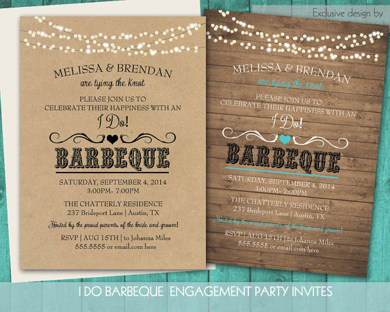 Pre Wedding Party Invitation Wording New Printable I Do Bbq Wedding Reception Invitation