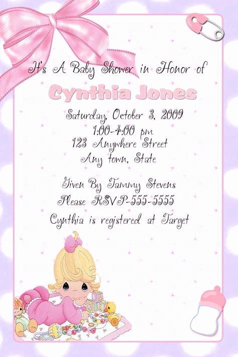 Precious Moment Wedding Invitation Best Of Precious Moments Invitation Baby Shower