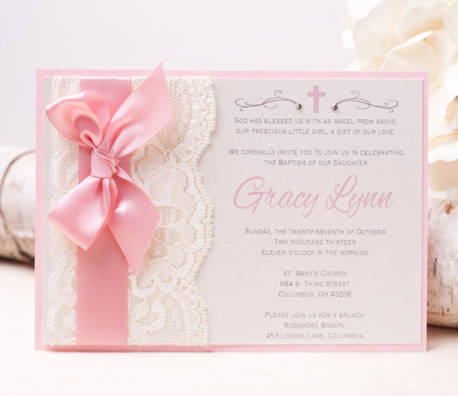Precious Moment Wedding Invitation Fresh Girl Baptism Invitations Precious Moments Baptism