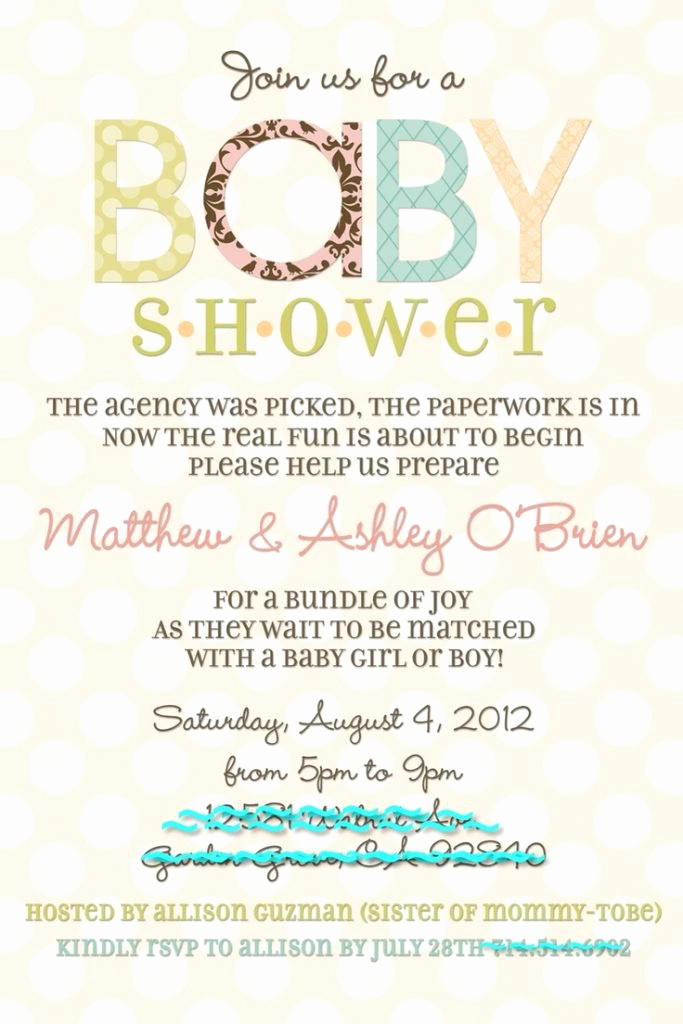 Preemie Baby Shower Invitation Wording Awesome Baby Shower after Baby is Born Invitations Wording Party Xyz