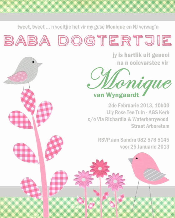 Preemie Baby Shower Invitation Wording Beautiful New Baby Shower Invitation Wording In Afrikaans