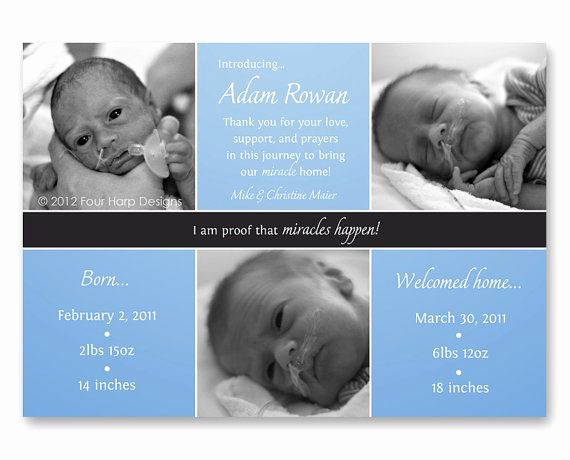 Preemie Baby Shower Invitation Wording Best Of 9 Best Preemie Birth Announcements Images On Pinterest