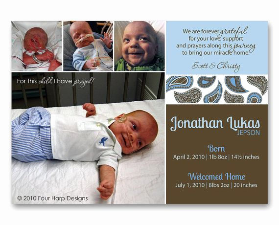 Preemie Baby Shower Invitation Wording Fresh Nicu Photo Cards