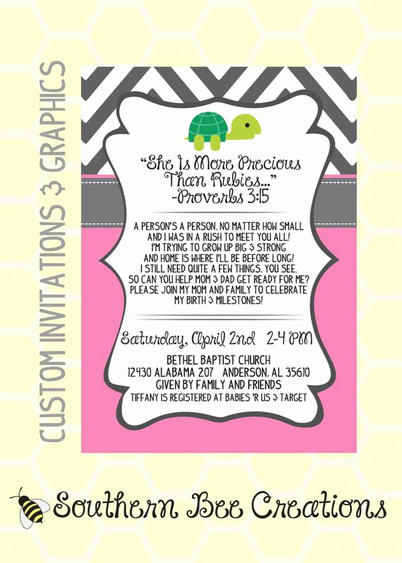 Preemie Baby Shower Invitation Wording Lovely Preemie Baby Shower Invitation Digital by southernbeecreations