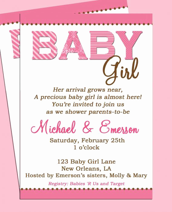 Preemie Baby Shower Invitation Wording New Baby Shower Baby Shower Girl Invitation Wording to Help