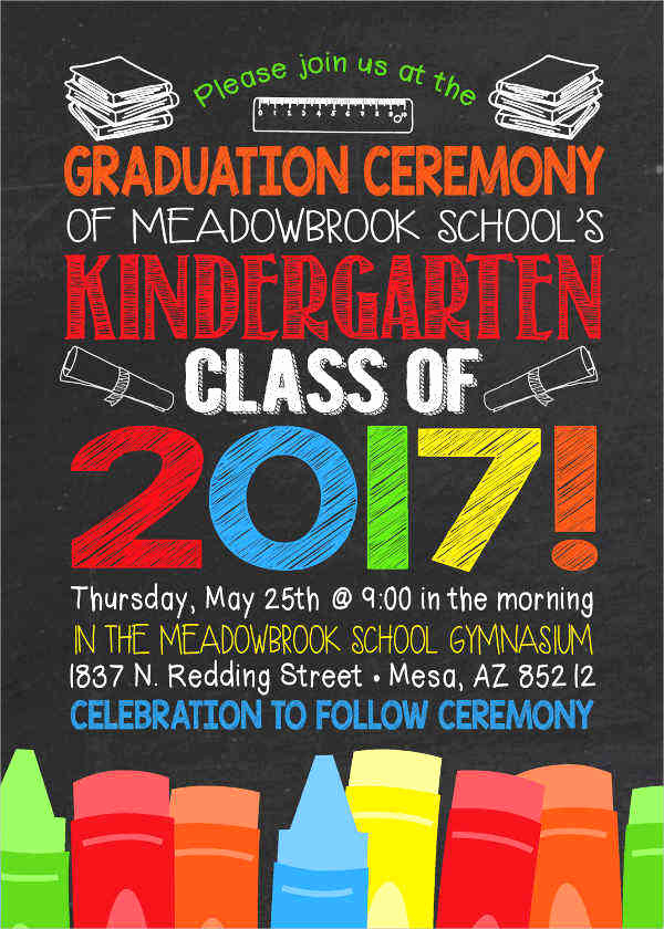 Preschool Graduation Invitation Ideas Awesome 48 Ceremony Invitation Designs & Templates Psd Ai