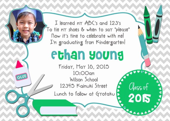 Preschool Graduation Invitation Ideas Best Of Items Similar to Kindergarten Preschool Graduation