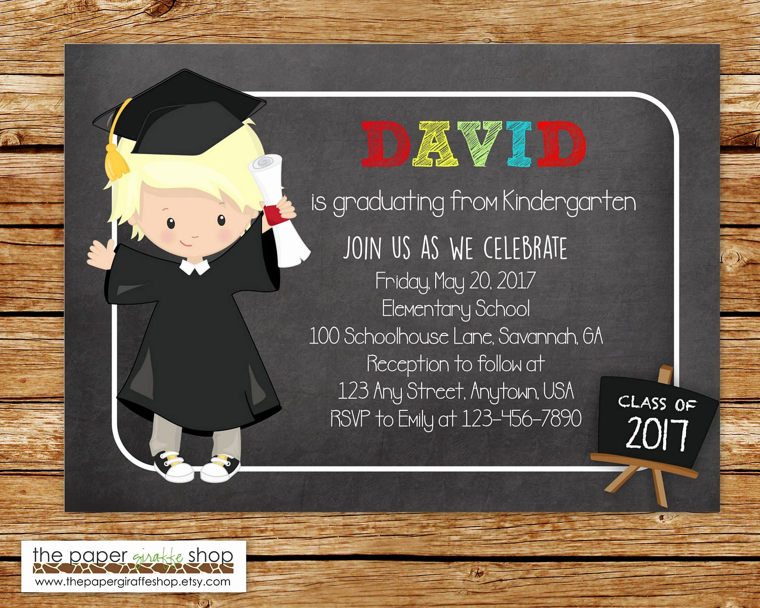 Preschool Graduation Invitation Ideas Elegant Kindergarten Graduation Invitation