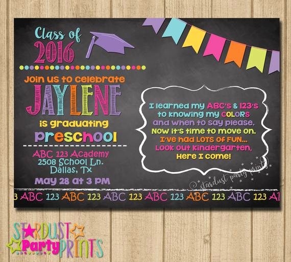 Preschool Graduation Invitation Ideas Inspirational Kinder Graduation Invitation Preschool Graduation Invitation