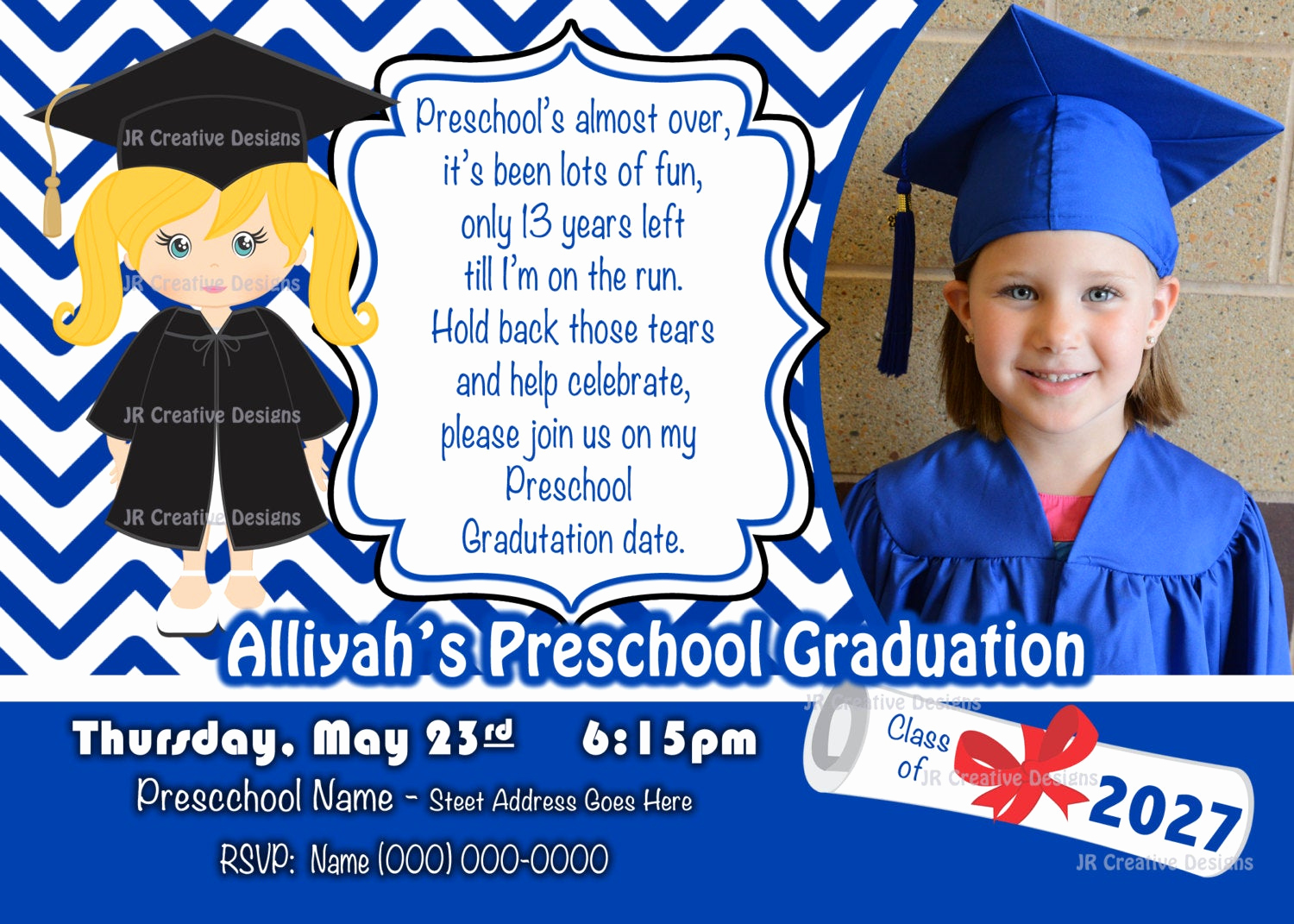 Preschool Graduation Invitation Ideas New Preschool Graduation Invitation Kindergarten Graduation